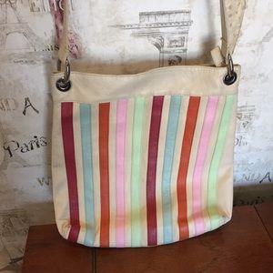Handbags - Retro Striped leather bag